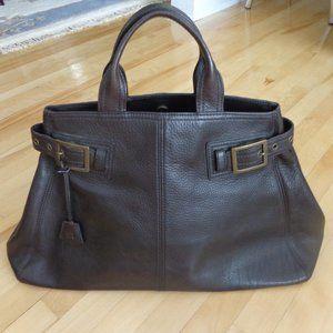 Brand new! Large brown leather purse handbag